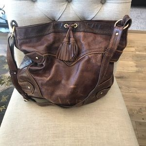 Isabella Fiore leather handbag with duster